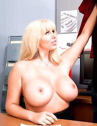 Huge boobs curvy secretary fu...