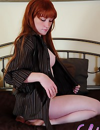 Lucy Daily - Luscious teen redhead with massive booty shows her amazing naked body