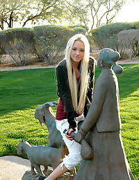 Dream Kelly - Outdoor shots with a teen at the park in tight pants and a cute top