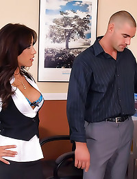 Sexy office chick is hammered