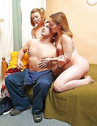 Pregnant teen and repair guy