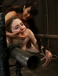 Big tittied Iona is ass hooked then fucked until she can't endure the bondage. She takes it long and deep until she gives up.