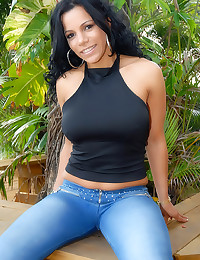 Pretty Latina teases sheer panties