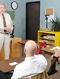 Classroom fuck with lusty schoolgirl