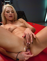 Young hottie and fucking machines