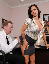 Brunette Ready For Dirty Office Work