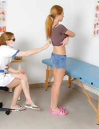 Sexy medical exam for teenager