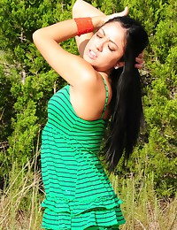 Cierra Spice - Sexy Cierra is hanging out at the beach in her dress