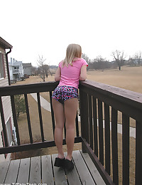 Tiffany Teen - Young doll teases with her killer booty outdoors