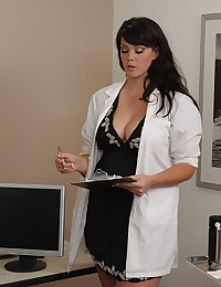 Doc Examines Cock Using Her Pussy