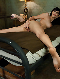 Raven Haired Hottie Fucks Dildo Machine