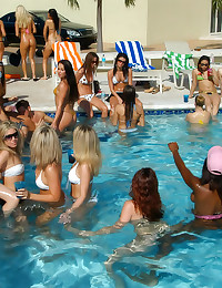 Pool party with hardcore sex