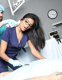 Doctors have elegant sex in room