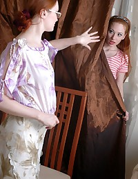 Teen redhead and lesbian milf