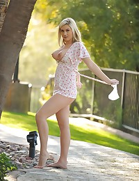 Alison Angel - Amazing busty beauty posing and seducing outdoors