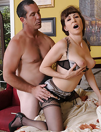 Mature in lingerie kinky sex