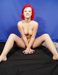Lindsey Marshal - Hot pink hair on this cute stripping girl