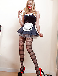 French maid with big tits