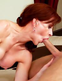 Milf redhead loves cumshot fa...