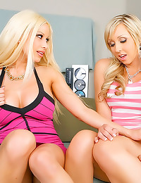 Two perfect busty blonde porn...