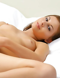 Erotic solo beauty plays with...