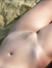 Slender naked hotties on beach