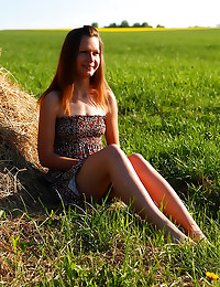 Teen sex in hay field