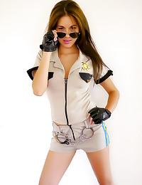 Shyla Jennings as a cop