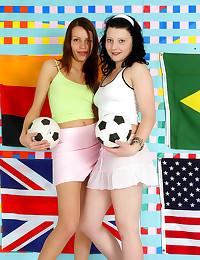 Soccer loving girls have lesbian sex