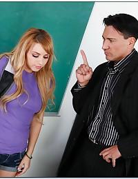Teen fucked on teacher's desk