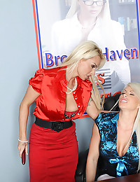 Naughty Blond Brooke Dominated By Milf