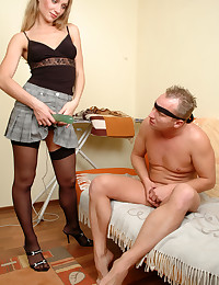 Blindfolded Guy Butt Fucked
