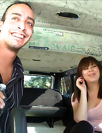 Amateur fucked in a car