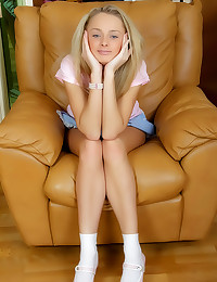 Pink toy in blonde teenager
