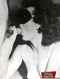 Real classic babe vintage licking and sucking
