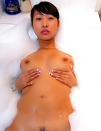 POV titjob with Asian amateur