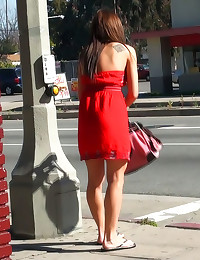 Hottie exposed in public