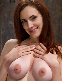 Bound tits redhead in pain