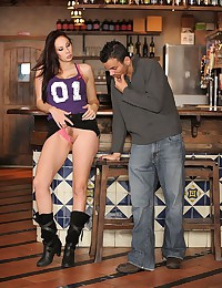 Booted babe boned at the bar