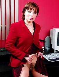 Home office pantyhose beauty