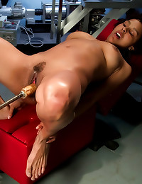 Banging ethnic pussy with toy...