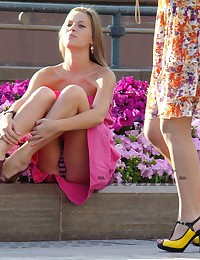Russian teen spyed. Hot sitting upskirt