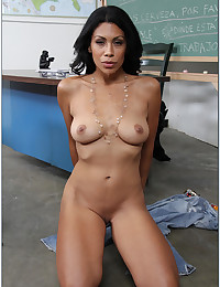 Latina Teacher With Glasses Gets Boned