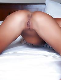 Young shaved vagina under panties