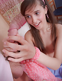 Nubile Brunette Teen Drilled Deep