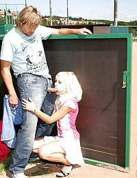 A couple loves public outdoor hardcore fuck
