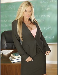 Busty blonde teacher pounded