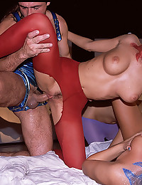 Three Ladies Drilled By One Guy
