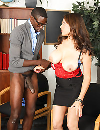 Naughty Teacher Enjoys Younger Black Dick