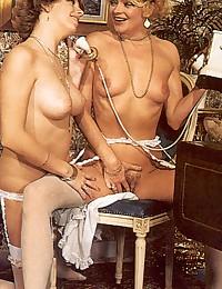 Two retro guys fucking two very horny girls